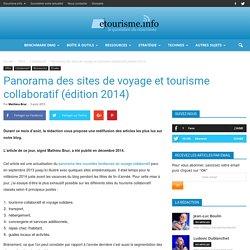 Panorama des sites de voyage et tourisme collaboratif (2014) Etourisme.info