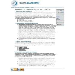 Travail collaboratif [Identifier les enjeux du travail collaboratif]