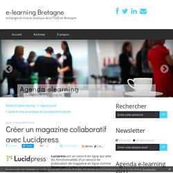 Créer un magazine collaboratif avec Lucidpress - e-learning Bretagne