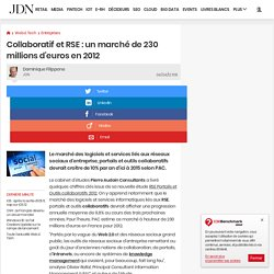 Collaboratif et RSE : un marché de 230 millions d'euros en 2012 - Journal du Net Solutions