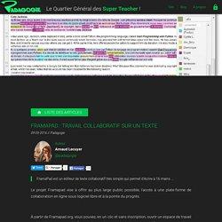 FramaPad : travail collaboratif sur un texte - Padagogie