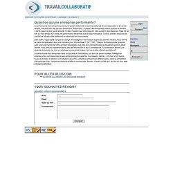Travail collaboratif [Qu'est-ce qu'une entreprise performante?]