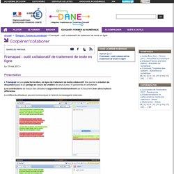 Framapad : outil collaboratif de traitement de texte en ligne