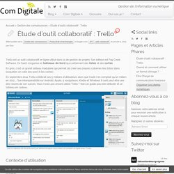Étude d'outil collaboratif : Trello - Com' Digitale