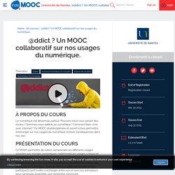 FUN - @ddict ? Un MOOC collaboratif sur nos usages du numérique.
