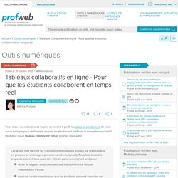 Tableaux collaboratifs en ligne - Pour que les étudiants collaborent en temps réel