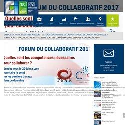 Forum Achats Collaboratifs 2017 - Quelles sont les compétences nécessaires pour collaborer?