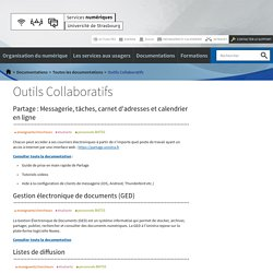 Outils Collaboratifs-Services numériques de l'Université de Strasbourg -