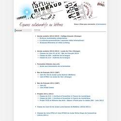 Espaces collaboratifs en lettres:PagePrincipale