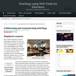 Collaborating and communicating with blogs – Teaching using Web Tools for Educators