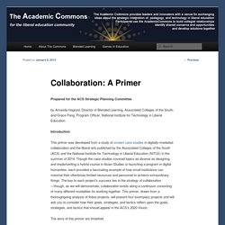Collaboration: A Primer