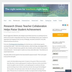 Research Shows Teacher Collaboration Helps Raise Student Achievement