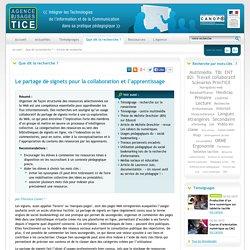L'Agence nationale des Usages des TICE - Le partage de signets pour la collaboration et l'apprentissage