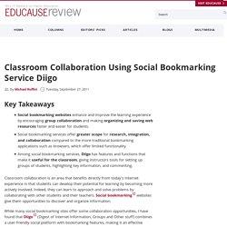 Classroom Collaboration Using Social Bookmarking Service Diigo