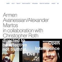 Armen Avanessian/Alexander Martosin collaboration with Christopher Roth