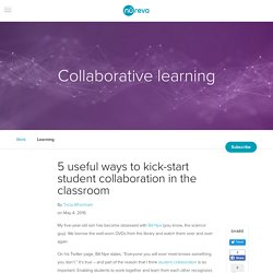 5 useful ways to kick-start student collaboration in the classroom