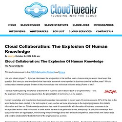 Cloud Collaboration: The Explosion Of Human Knowledge | CloudTweaks