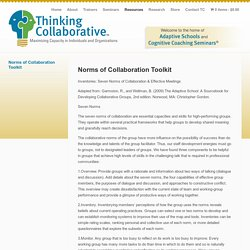 Norms of Collaboration Toolkit