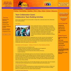 Team Collaboration Quest: Collaborative Team Building Activities