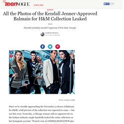 H&M Balmain Collaboration - Kendall Jenner and Gigi Hadid Balmain - H&M Balmain Collection