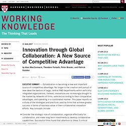 +++[ collaboration] Innovation through Global Collaboration: A New Source of Competitive Advantage