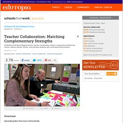 Teacher Collaboration: Matching Complementary Strengths