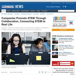 Companies Promote STEM Through Collaboration, Connecting STEM to Real Life