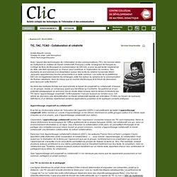 TIC, TAC, TCAO - Collaboration et créativité