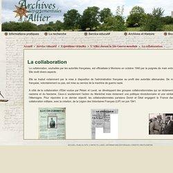La collaboration - Archives Départementales Allier