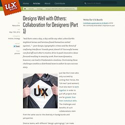 Designs Well with Others: Collaboration for Designers (Part 1)