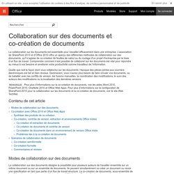 Collaboration sur des documents et co-création de documents