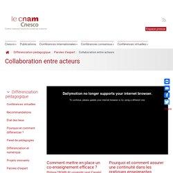Collaboration entre acteurs