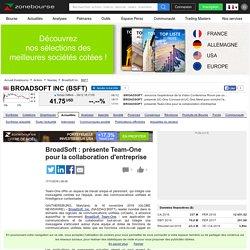 BroadSoft : présente Team-One pour la collaboration d'entreprise