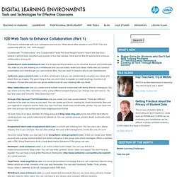 100 Web Tools to Enhance Collaboration