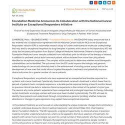 Foundation Medicine Announces Its Collaboration with the National Cancer Institute on Exceptional Responders Initiative (NASDAQ:FMI)