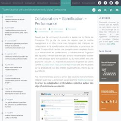 Collaboration + Gamification = Performance