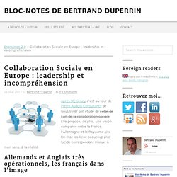 Collaboration Sociale en Europe : leadership et incompréhension