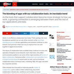 The blending of apps with our collaboration tools: An inevitable trend