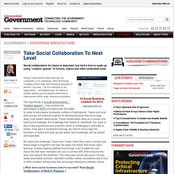 Take Social Collaboration To Next Level - Global Cio - Executive