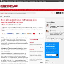 Software > How Enterprise Social Networking aids employee collaboration