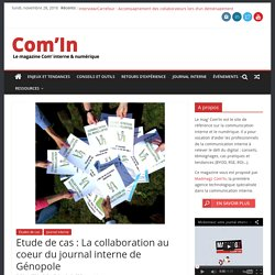 La collaboration au coeur du journal interne de Genopole
