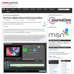10 free collaboration tools for journalists