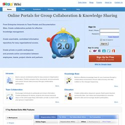 Online Team Collaboration & Group Knowledge Sharing Tool: Zoho Wiki