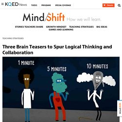 Three Brain Teasers to Spur Logical Thinking and Collaboration