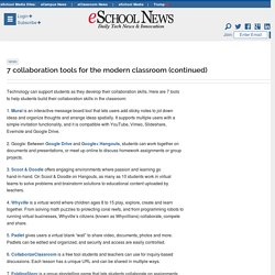 7 collaboration tools for the modern classroom