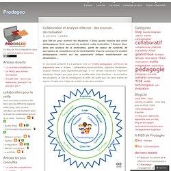 Collaboration et analyse réflexive : des sources de motivation