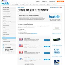 Charity Document Management & Charity Collaboration Tools - Huddle.com