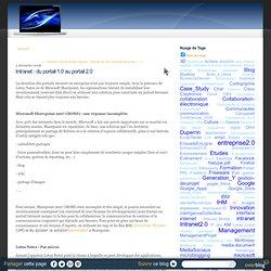 Intranet : du portail 1.0 au portail 2.0