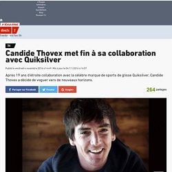 Ski - Candide Thovex met fin à sa collaboration avec Quiksilver