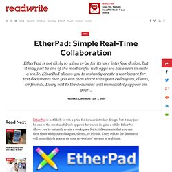 EtherPad: Simple Real-Time Collaboration - ReadWriteWeb